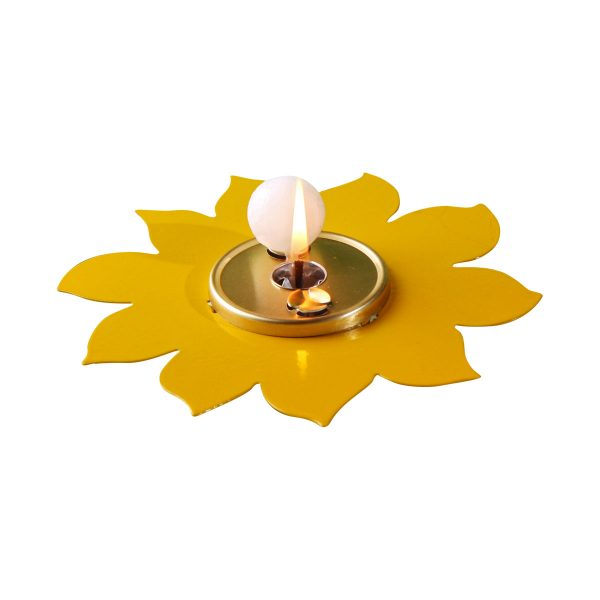 Deko-Blume gelb (Brenner: messing)-0