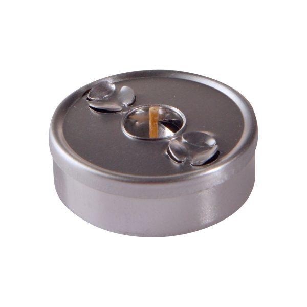Maxi-Teelicht chrom (2 Kugeln) – (VK-Set)-0
